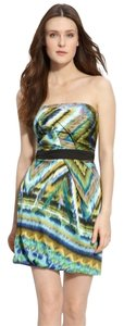 Max and Cleo Strapless Print Spring Summer Dress
