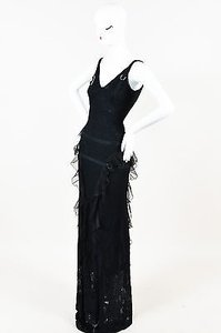 Black Maxi Dress by Dior Christian Crochet