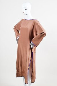 Oscar de la Renta short dress Brown Vintage on Tradesy