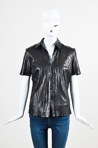 Roberto Cavalli Leather Top Black