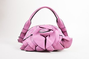 Valentino Garavani Leather Rose Collection Rose Shoulder Bag