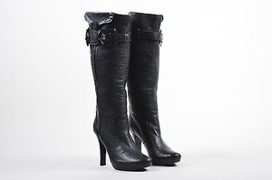 Fendi Pebbled Leather Black Boots