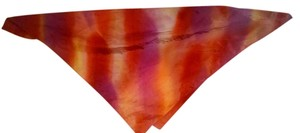 Red Orange Silk Scarf Square P1075