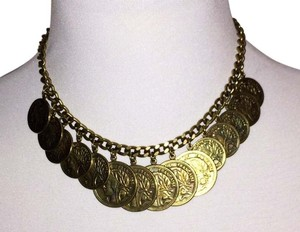 Theodora & Callum New Authentic Brass St. Tropez Coin Necklace