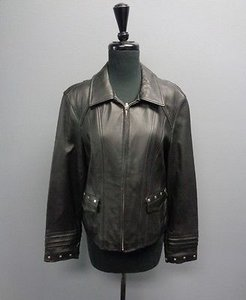 Adler Collection Real Lamb Skin Polyester Interior Sm1478 Motorcycle Jacket
