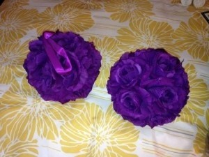 Dark Purple Kissing Balls Ceremony Decoration