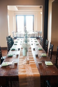 Burlap W/ Lace Table Runner