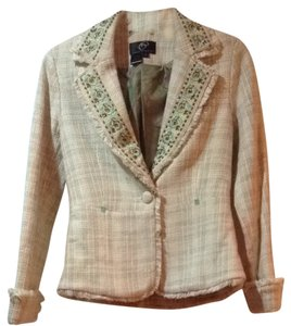 True Meaning Cream & Tan Blazer