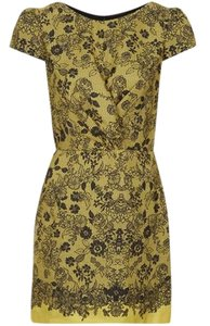 Topshop short dress Yellow and Black Flattering Day Or Night on Tradesy
