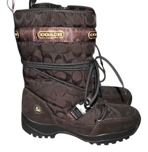 Coach Suede Brown Boots