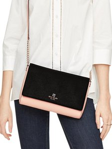 Kate Spade Two Tone Color-blocking Clutch Leather Night Out Cross Body Bag