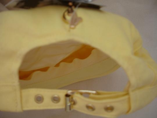 Baby Phat BABY PHAT YELLOW W/ GOLD METAL CHARM/ NEWSBOY CABBIE HAT/ CAP SIZE OSFA NWT $24