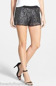 LAmade Mayra Metallic Foil Lace In Shorts Black