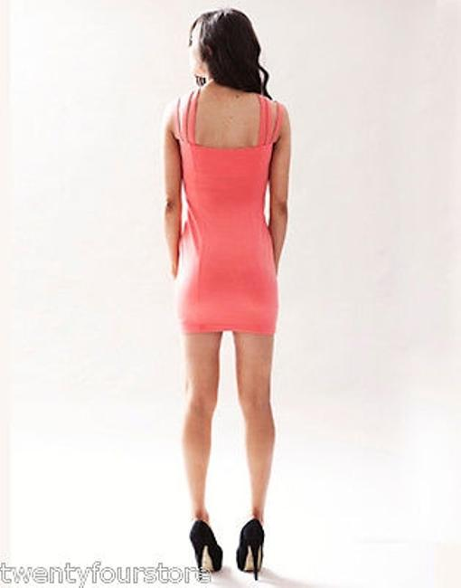 Keepsake the Label Last Kiss In Coral W Strappy Neckline Dress Image 3