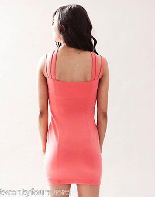 Keepsake the Label Last Kiss In Coral W Strappy Neckline Dress Image 4