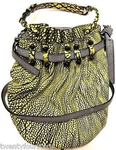 Alexander Wang Diego Bucket Studded In Contrast Tip Citron Very Satchel in Yellow