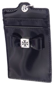 Tory Burch Tory Burch Black Patent Leather Bow Cardholder Wristlet