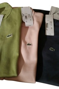 Lacoste T Shirt Blue/Pink & Green