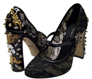 Dolce&Gabbana Dolce & Gabbana Lace Mary Black Pumps