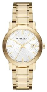 Burberry Burberry Men's Large Goldtone Stainless Steel Bracelet