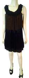 BCBGMAXAZRIA Silk Size 2 Black Dress