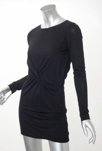 Gucci short dress Black Knit Stretch Ruched on Tradesy