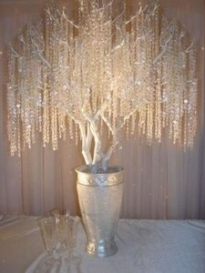 Clear 198 Feet Of Acrylic Crystal Garlands 150 Garland Roll Wholesale Crystals Free Shipping Reception Decoration