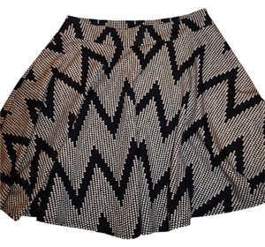 Charlotte Russe Mini Skirt BLACK/BEIGE