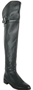Charles David Leather Over The Knee Belted Tall Classic Black Boots