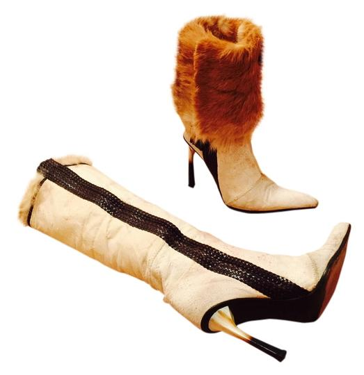 Luca Valentini Fur Urpersonalshoppers Ivory/Brown/Camel Boots