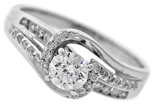 Other Vintage Solid 14k White Gold .75ct Diamond Engagement Ring Size 8.75