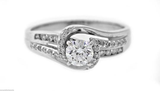 Other Vintage Solid 14k White Gold .75ct Diamond Engagement Ring Size 8.75 Image 1
