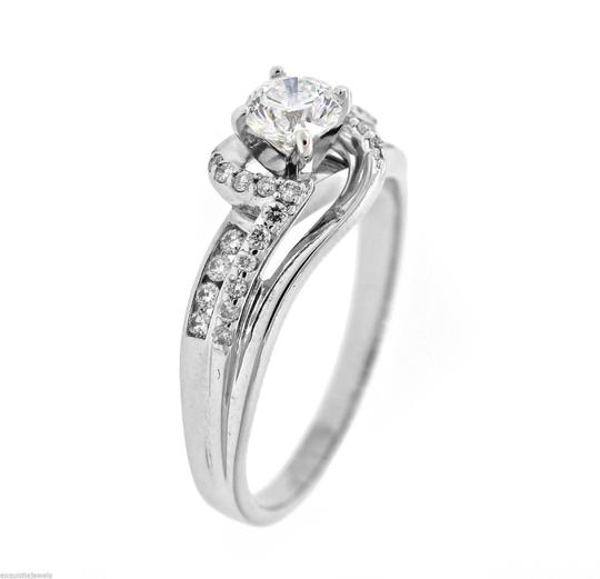 Other Vintage Solid 14k White Gold .75ct Diamond Engagement Ring Size 8.75 Image 2