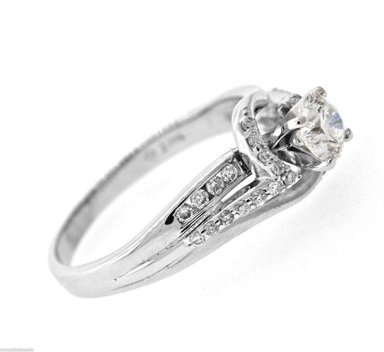 Other Vintage Solid 14k White Gold .75ct Diamond Engagement Ring Size 8.75 Image 3