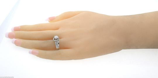 Other Vintage Solid 14k White Gold .75ct Diamond Engagement Ring Size 8.75 Image 4