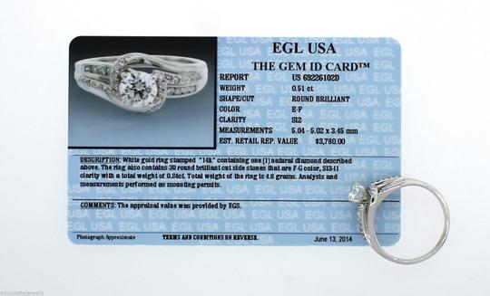 Other Vintage Solid 14k White Gold .75ct Diamond Engagement Ring Size 8.75 Image 6