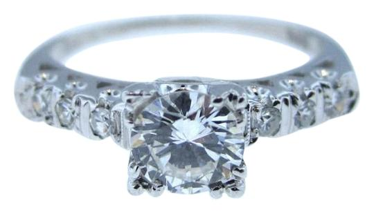 Preload https://img-static.tradesy.com/item/16282999/14k-white-gold-antique-art-deco-63ctw-e-f-vs2-diamond-engagement-vintage-ring-0-1-540-540.jpg