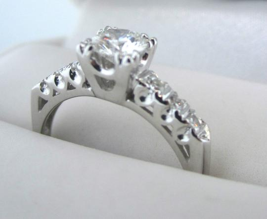 Other Antique Art Deco 14k White Gold .63CTW E-F VS2 Diamond Engagement Ring Vintage Image 2
