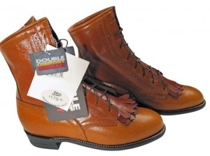 Justin Boots Western Boot Made In America Whiskey Calfskin Boots
