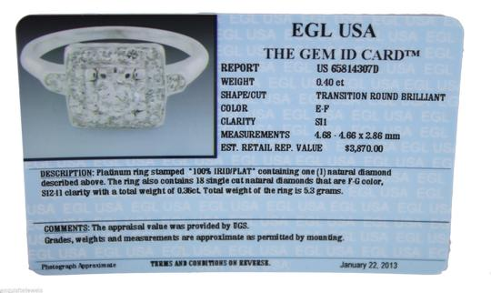 Other 0.76ctw EGL Brilliant Cut Diamond Engagement Wedding Ring E-F color SI Image 5