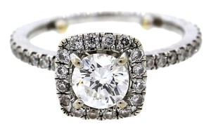 Other GIA Certified Solid 14k White Gold Diamond Pave Set Wedding Engagement Ring