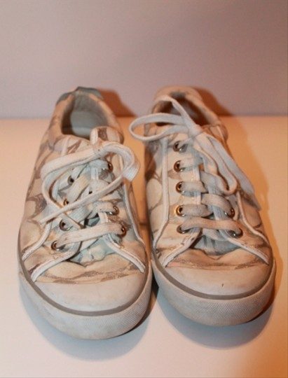 Coach Canvas White/Silver Athletic