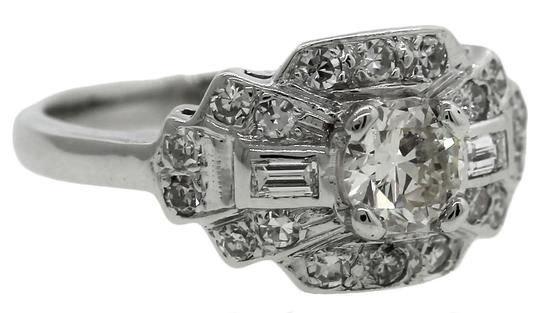Other Lovely Ladies 1940s Antique Retro 0.97ctw Diamond 14K White Gold Engagement Ring Image 1