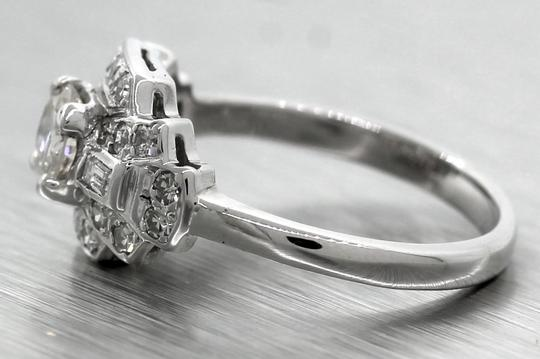 Other Lovely Ladies 1940s Antique Retro 0.97ctw Diamond 14K White Gold Engagement Ring Image 2