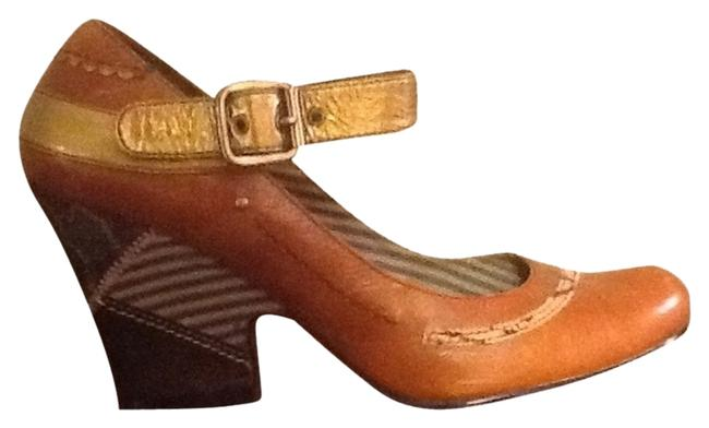 Item - Brown Mary Jane Leather Pumps Size US 9.5 Regular (M, B)