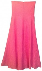 J.Crew short dress Spring Pink Crepe Strapless Summer Preppy on Tradesy
