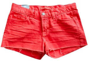 J Brand Brand New Low Rise Cut Off Shorts Tangerine