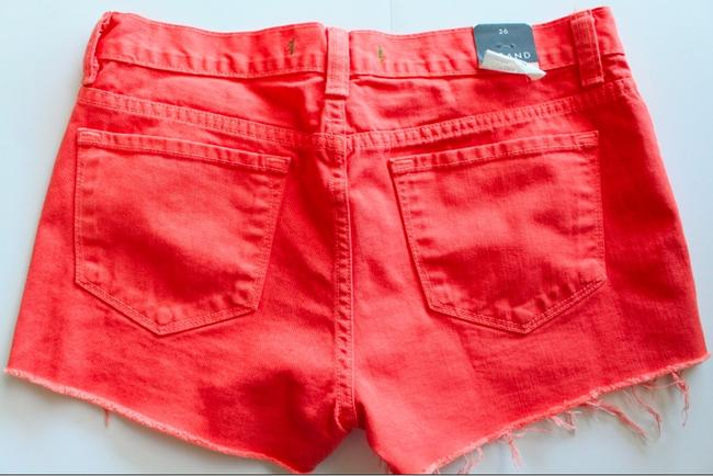 J Brand New Low Rise Cut Off Shorts Tangerine