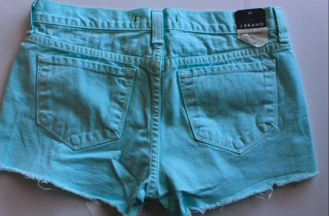J Brand New Low Rise Cut Off Shorts Teal/Blue