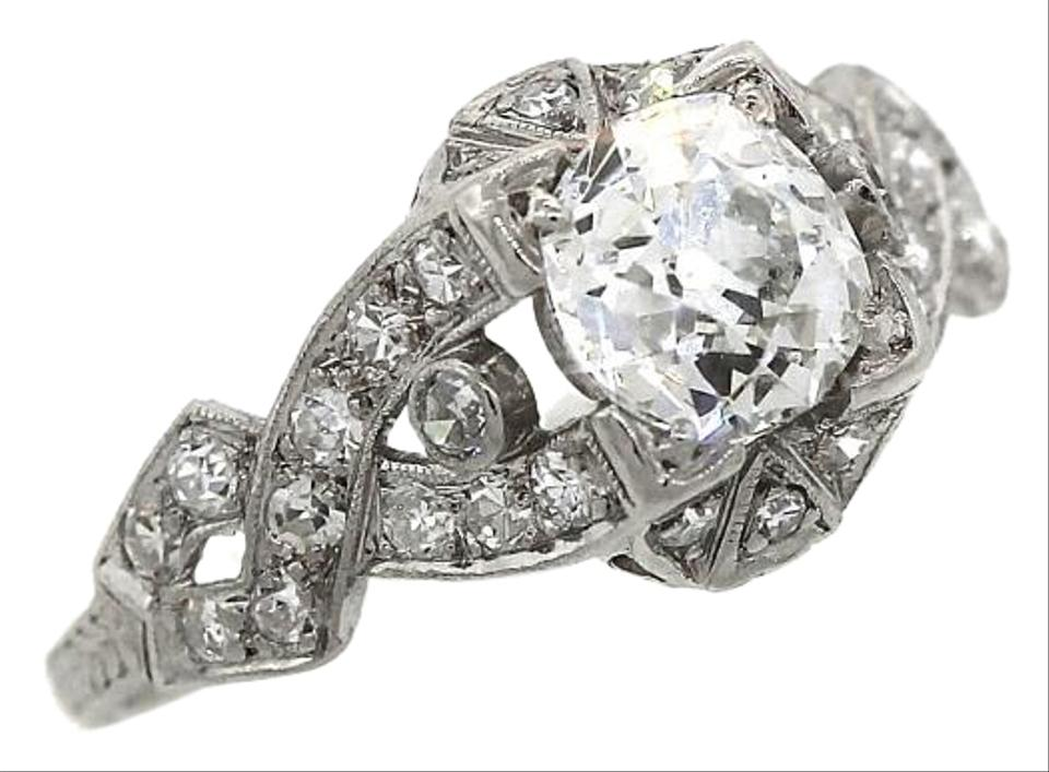 deco other i art eccentric antique engagement ladies rings platinum diamond ring
